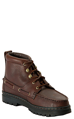 Justin Women's Chip Brown Chukka Moc Toe Lace Up Casual Boots