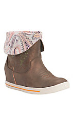 Justin Gypsy Dust Women's Metallic Bronze with Paisley Round Toe Wedge Boots