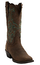 Justin Ladies Sorrel Apache Brown Stampede Square Toe Boot