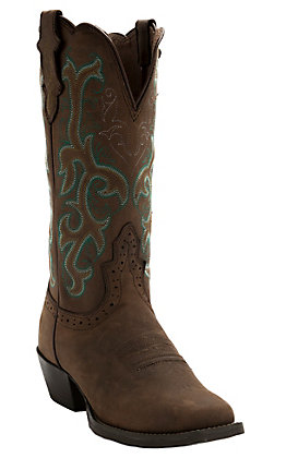 Justin Women's Stampede Apache Brown Square Toe Western Boot