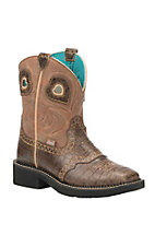 Justin Women's Tan Gator Print Western Square Toe Gypsy Boots