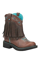 Justin Women's Cognac with Long Fringe Round Toe Gypsy Boot