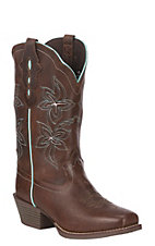 Justin Women's Original Gypsy Collection Warm Brown Punchy Toe Western Boot