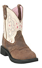 Justin Ladies Gypsy Collection Boots Barnwood Brown w/ Cream