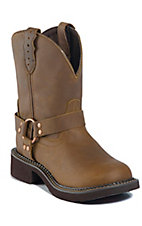 Justin Gypsy Ladies Bay Apache Harness Round Toe Western Boots