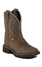 Justin Gypsy Collection Ladies Barnwood Brown Broad Square Toe Boots