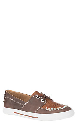 Reba by Justin Chocolate and Tan Texoma Women's Casual Shoes