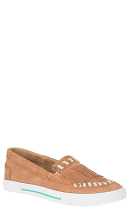 Reba by Justin Women's Kiowa Sand Suede with Fringe Casual Shoes