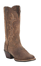Justin Ladies Silver Collection Brown Crazy Horse Goat Punchy Toe Western Boots