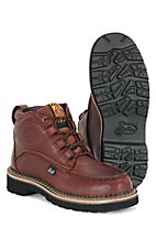 Justin Mens Classic Steel Toe Chukka Workboot - Rust