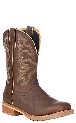 Justin Men's Dark Brown Waterproof Square Toe Work Boot