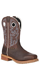 Justin Men's Dark Brown Ortholite Steel Square Toe Work Boot