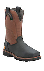 Justin Work-Tek Men's Black Tec Tuff Waterproof Square Composition Toe Work Boots