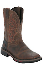 Justin Hybred Men's Rugged Tan Composite Square Toe Western Work Boot