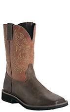 Justin Original Workboots Stampede Men's Rugged Tan w/ Square Composite Toe Work Boot