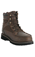 Justin Men's Rugged Tan Moc Steel Toe Lacer Work Boots