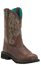 Justin Gypsy Women's Chocolate Chip Waterproof Steel Toe Work Boots