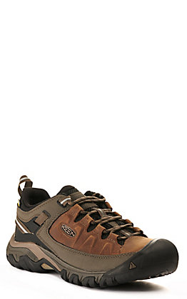Keen Men's Targhee III Brown Waterproof Lace Up Hiker Shoe