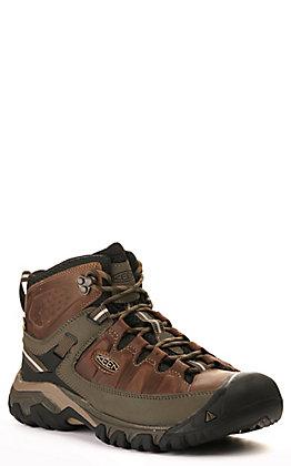 "Keen Men's Targhee III Brown Waterproof Lace Up 6"" Hiker Shoe"