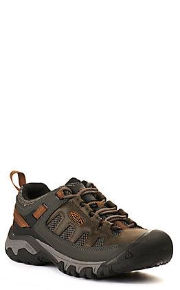 Keen Men's Targhee Black and Grey Vent Waterproof Lace Up Hiker Shoe