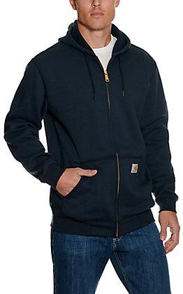 Carhartt Men's Navy Zip Front Hoodie