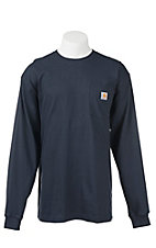 Carhartt Navy Original Fit Long Sleeve Work Shirt
