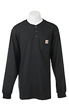 Carhartt Black Original Fit Long Sleeve Work Shirt