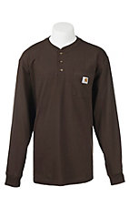 Carhartt Dark Brown Original Fit Long Sleeve Work Shirt