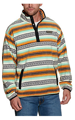 Cinch Men's Multicolored Striped Fleece Pullover Jacket