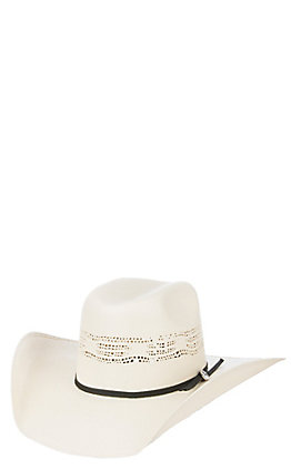 Cavender's Hat Collection Youth Bangora 2 Cord Vented Crown Straw Cowboy Hat