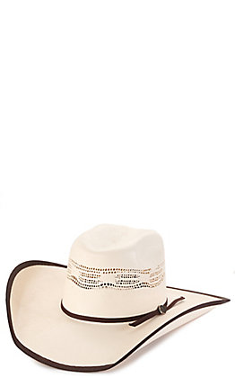 Cavender's Kids' Ranch Collection Bangora Two Cord Vented Crown Bound Edge Straw Cowboy Hat