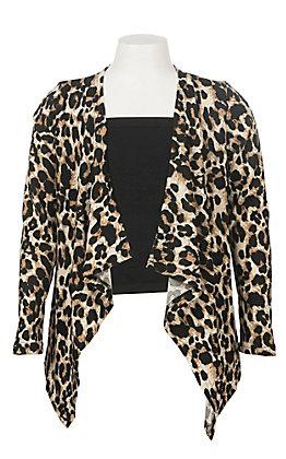 Grace & Emma Girls Leopard Long Sleeve Kimono