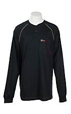 Cinch Men's Black Pocket Knit L/S FR Shirt