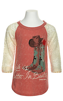 Southern Grace Girl's Life Is Better in Boots Graphic Tee