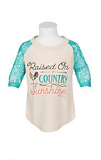 Southern Grace Girls Raised on Country Sunshine T-Shirt