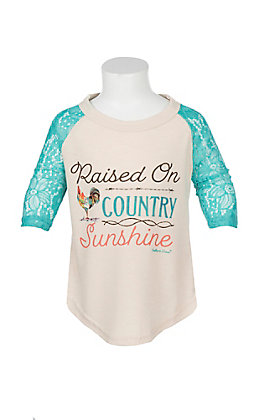 Southern Grace Girls Raised on Country Sunshine T-Shirt