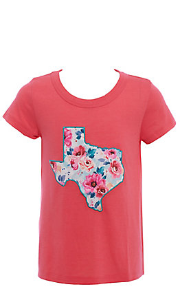 Southern Grace Girls' Pink Texas Floral Short Sleeve Top