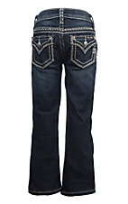 Miss Me Girls Zigzag Flap Pocket Boot Cut Jeans