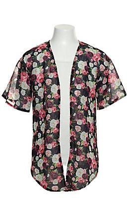 Grace & Emma Girl's Floral Print Kimono