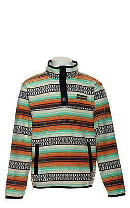 Cinch Boys' Multicolored Striped Fleece Pullover Jacket