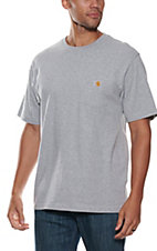 Carhartt Heather Grey Original Fit Short Sleeve Work Shirt