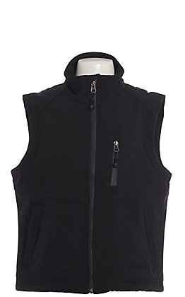 Rafter C Boys' Black Bonded Vest