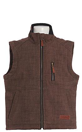 Rafter C Boy's Heather Brown Bonded Vest