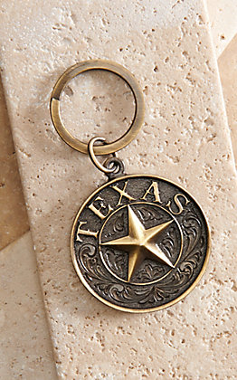 AndWest Antique Bass Texas Star Keychain