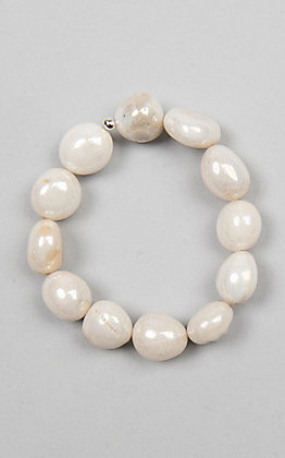 Kori Green White Beaded Bracelet