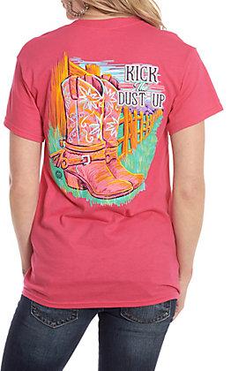 Girlie Girl Originals Pink Kick The Dust Up Short Sleeve T-Shirt