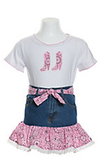 Kiddie Korral 2 Piece Pink Bandanna Outfit