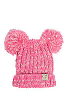 C.C. Beanies Youth Double Pom Pom Bubble Gum Beanie