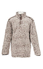 Berry N Cream Girls Heather Brown Pullover Fleece Jacket