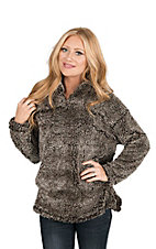 Fantastic Fawn Women's Brown Fleece Pull Over